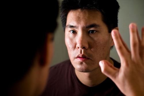 Man looking in for Mirror yourself
