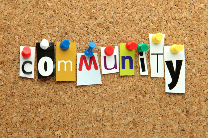 Community pinned on noticeboard