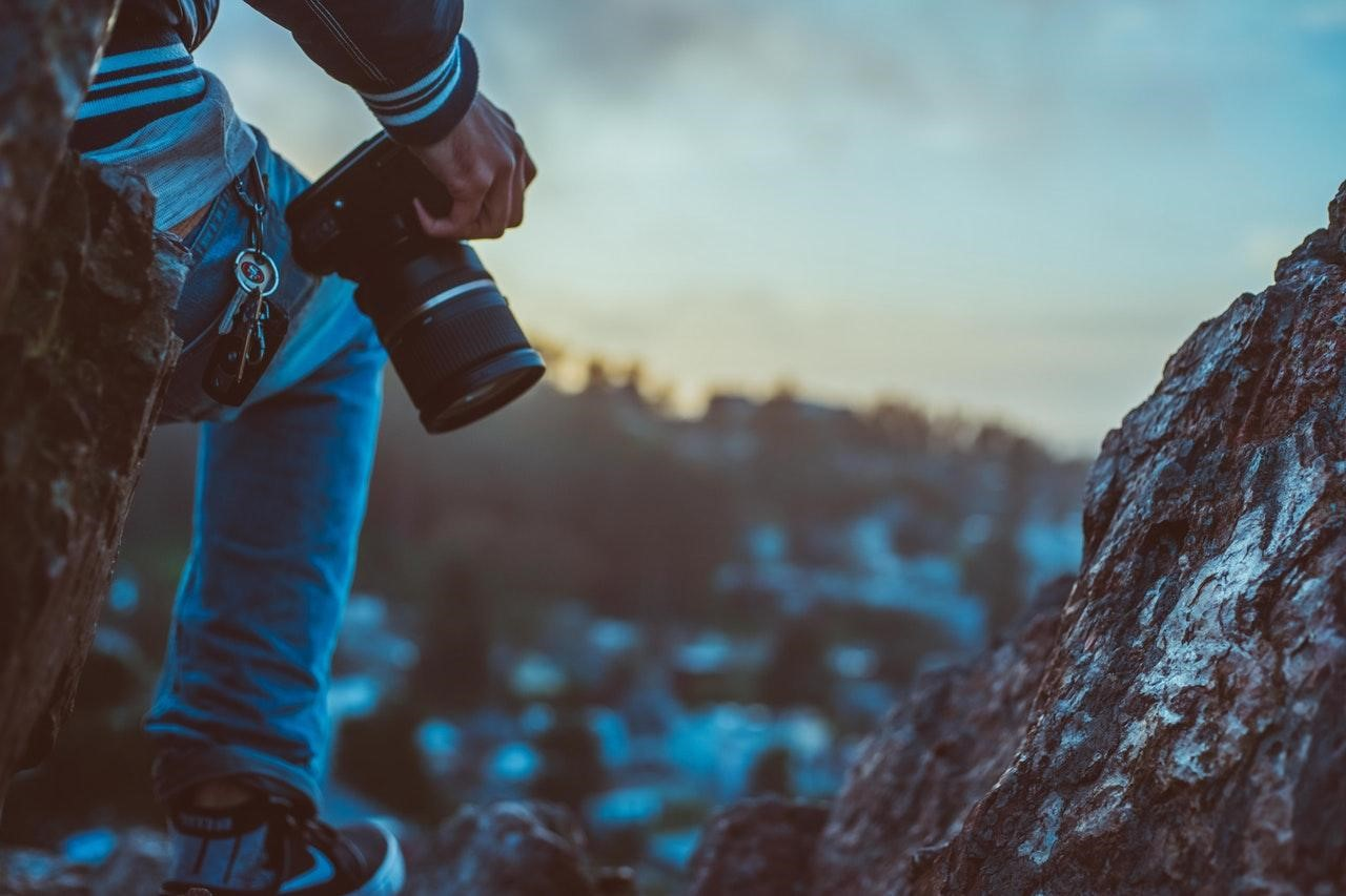 Photographer on the cliff